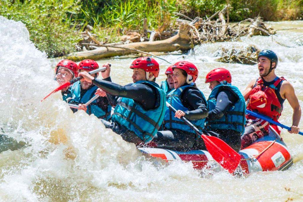 Grupo de rafting en benamejí